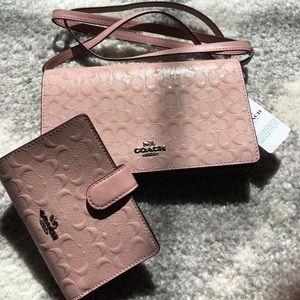 Brand New Coach purse / wallet set
